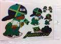Jamaica - Rude Boy Flag Stickers : Set Of 5 Different Sizes