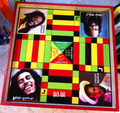 Ludo Board & Draughts Board - Black, Red, Green & Gold : Legends Of Reggae (Custom) Large