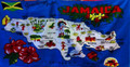 Jamaica Map : Beach & Decorative Towel