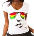 Rasta Glasses - Cooyah Women's T-Shirt (White)
