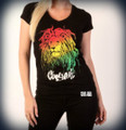 Cooyah  Lion : Women's T-Shirt (Black)