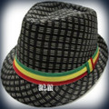 Rasta Milani Straw : Fedora Hat (Black)