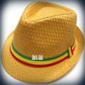 Rasta Milani Straw : Fedora Hat (Tan)