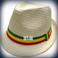 Rasta Milani Straw : Fedora Hat (White)