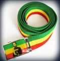 Rasta Adjustable - Haile Selassie I : Canvas Belt