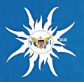 Virgin Islands Flag - Sun  : Sticker