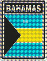 Bahamas - Flag : Sticker