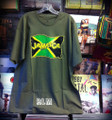 Jamaica Flag : Army Green - T Shirt