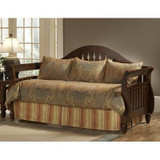 Elite Ambrose Falls 5 pc Daybed Ensemble|Leggett & Platt Home Textiles, Elite Daybed, Twin, Comforter & Shams: 55% Polyester 45% Viscose Front, 100% Cotton Back; Bedskirt: 55% Polyester 45% Viscose Front, 100% Polyester Back, 30 Day Warranty against Manufacturer Defects