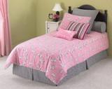 Cozy Kids Cleo 3 pc Ensemble|Leggett & Platt Home Textiles, Cozy Kids, Twin, 100% Cotton, 30 Day Warranty against Manufacturer Defects