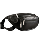 Travelon Leather Waist-Pack with Organizer, Black, One Size|travelon, leather, waist pack with organizer, black