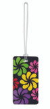 Belle Hop Black Floral Fashion Luggage Tag by LCI Brands|lci brands, belle hop, luggage tag, black floral, fashion tag