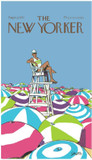 Home Source International Conde Nast The New Yorker On Duty Beach Towel|home source international, towels, conde nast, beach towels, new yorker, on duty