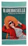 Home Source International Conde Nast Mademoiselle Straw Hat Beach Towel|home source international, towels, conde nast, beach towels, mademoiselle, straw hat