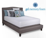 12 inch Cooling Gel Infused Memory Foam Mattress by Jeffco Deluxe Series|jeffco, mattresses, gel memory foam, deluxe series, 12 inch, coolmax cover, gel infused