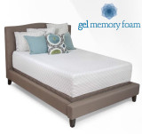 14 inch Cooling Gel Infused Memory Foam Mattress by Jeffco Deluxe Series|jeffco, mattresses, gel memory foam, deluxe series, 14 inch, coolmax cover, gel infused