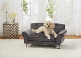 Enchanted Home Pet La Joie Velvet Sofa|enchanted home pet beds, pet beds, snuggle beds, pet sofa, ultra plush, La Joie Velvet Sofa