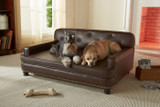 Enchanted Home Pet Library Pet Sofa Brown Pebble|enchanted home pet beds, pet beds, snuggle pet sofa, snuggle beds, pet sofa, library pet sofa, brown pebble