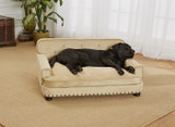 Enchanted Home Pet Library Bed Caramel|enchanted home pet beds, pet beds, snuggle pet sofa, snuggle beds, pet sofa, library pet sofa, caramel
