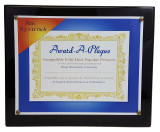 Silverstar Piano Black Wood Award Plaque with High Gloss Finish 10.5x13 Inch for 8.5x11 Inch Awards|Award Plaques, Black Plaque, Glossy Finish Hardwood Award Frame, Piano Black Finish, High Gloss Finish, Commemorative Plaque