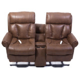 Companion Loveseat Recliner by Mega Motion|loveseats, recliner, companion, chaise, chaise lounge sofa, chaise lounge chair, chaise sofa, sofa chaise, tobacco, buff