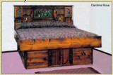 Carolina Rose Solid Pine Wood Frame Hardside Waterbed Base