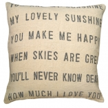 Pillows + Poufs
