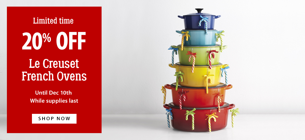 20% off Le Creuset French Ovens