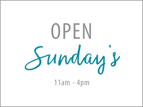 Open Sunday's
