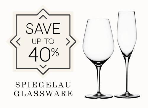 Upto 40% off Spiegelau Glassware