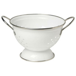 METAL COLANDER SMALL - WHITE