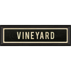 STREET SIGN BLACK - VINEYARD - LEFT ARROW