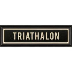 STREET SIGN BLACK - TRIATHLON