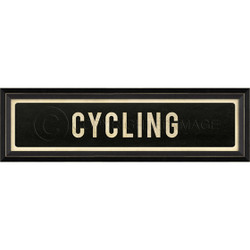STREET SIGN BLACK - CYCLING