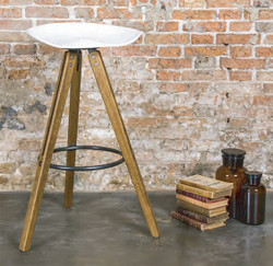 THEO TRACTOR COUNTER STOOL - FUMED OAK