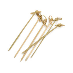 "RSVP BAMBOO SKEWER 4.5"" KNOT PICKS - 50 COUNT"