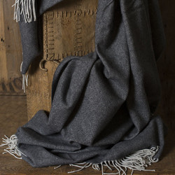 SOHO THROW - CHARCOAL