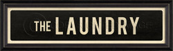STREET SIGN BLACK - THE LAUNDRY