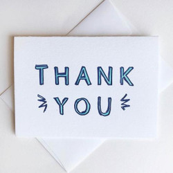 THANK YOU - BABY BLUE