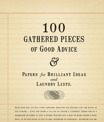 100 GATHERED PIECES OF GOOD ADVICE