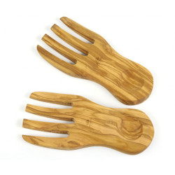 BERARD OLIVE WOOD SALAD HANDS - SET OF 2