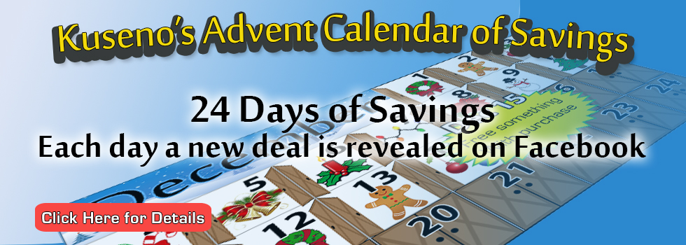 Click to learn more about our Advent Calendar of Savings, running from Dec 1 to Dec 24.