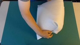 How to fold the pillow underneath