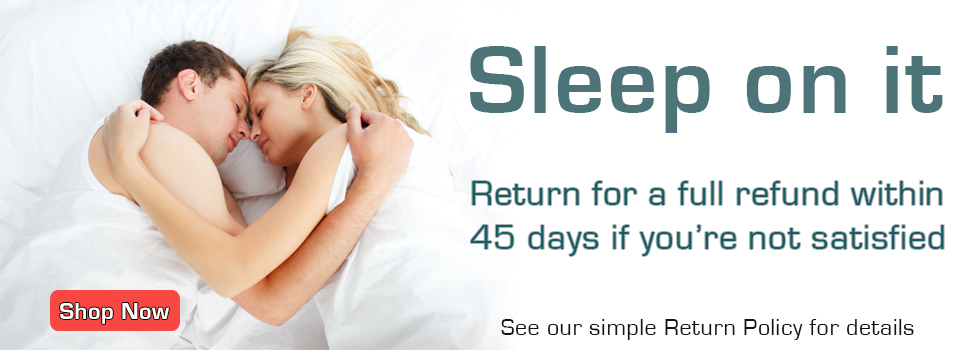 Return your Kuseno pillow within 45 days if you're not satisfied. Image © Can Stock Photo Inc. / 4774344sean