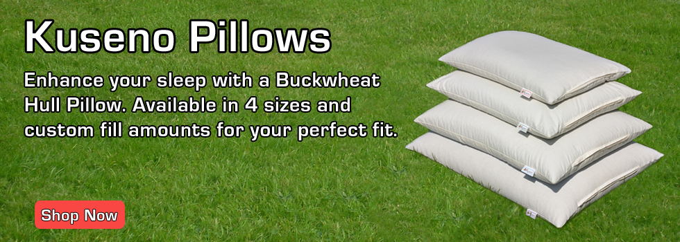 Kuseno Buckwheat Hull Pillows are made in Canada