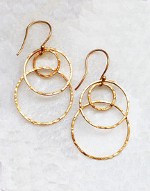 Best ABC hammered loopy earrings