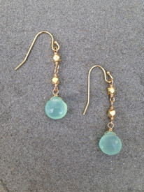 Aqua Chalcedony and Vermeil Earrings