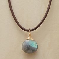 Labradorite and Leather Necklace designed for the Sundance Catalog
