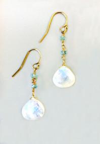 Beautiful Moonstone Earrings, perfect graduation or birthday gift!