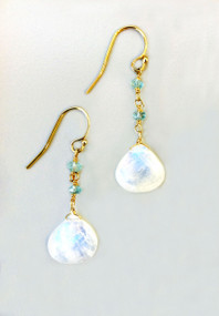 Beautiful Moonstone Earrings, perfect graduation or birthday gift!